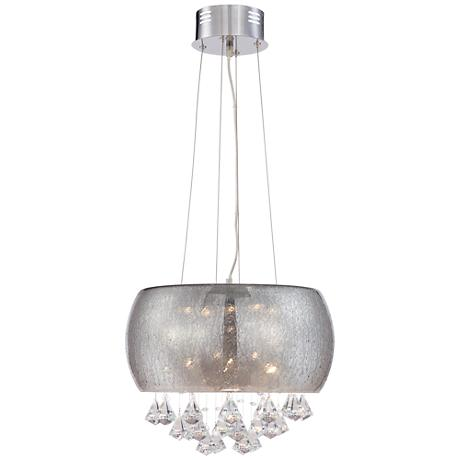 "Nicolosi 16 1/4"" Wide Smoke Glass LED Crystal Pendant"