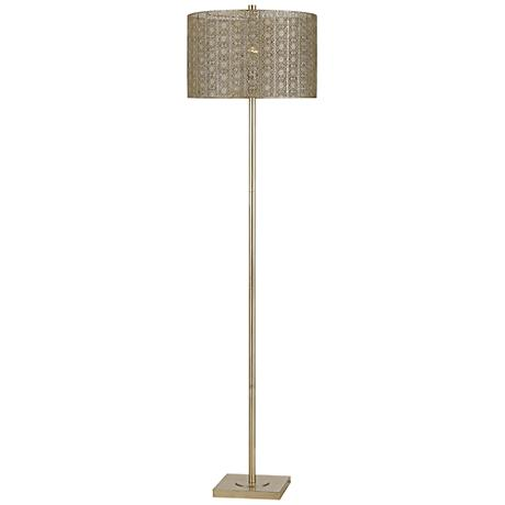 Falfurrias Warm Silvery Gold Metal Floor Lamp