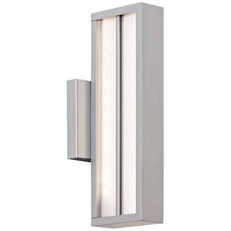"LBL Aviva 13 1/2"" High Silver LED Outdoor Wall Light"