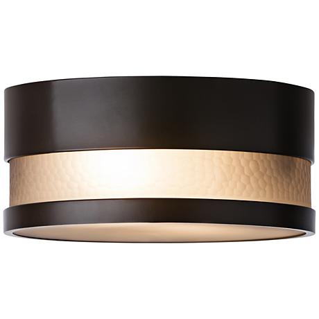 "LBL Moon Dance 13 1/4"" Wide Bronze Outdoor Ceiling Light"