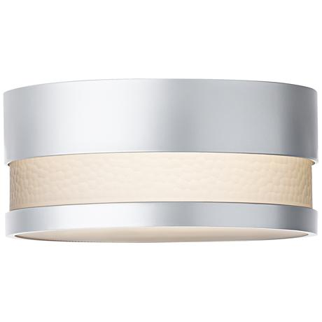 "LBL Moon Dance 13 1/4"" Wide Silver Outdoor Ceiling Light"