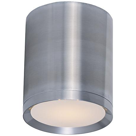 "Lightray 5""W Brushed Aluminum LED Outdoor Ceiling Light"