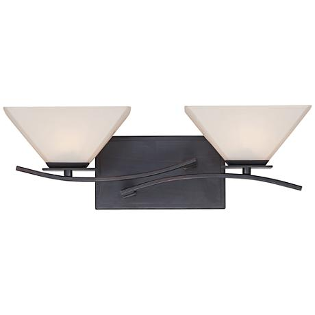 "Hyland 17 3/4""W Opal 2-Light Biscayne Bronze Bath Light"