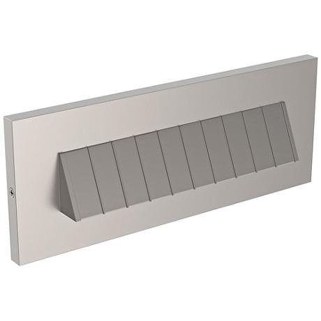 "LBL Lighting Tarpa 8 1/2"" Wide Satin Nickel LED Step Light"