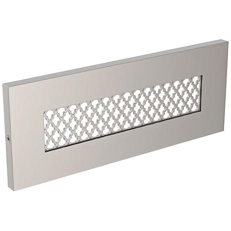 "LBL Lighting Tracery 8 1/2"" W SN LED Step Light"
