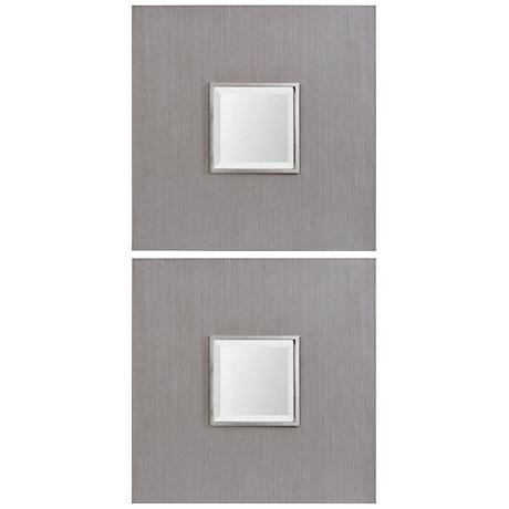 "Uttermost Scotten Gray 24 1/4"" Square Mirror Set of 2"