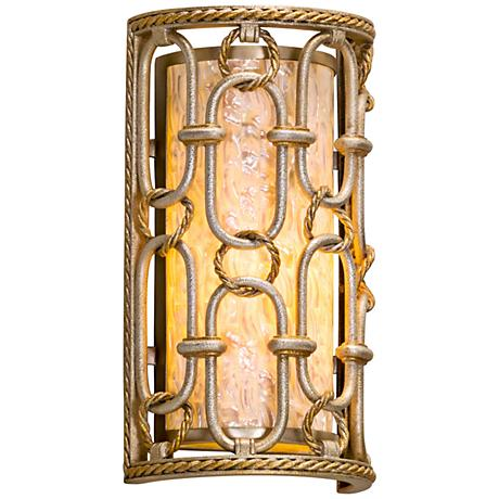 "Corbett Sweet Talk 12 3/4"" High Silver Leaf Wall Sconce"