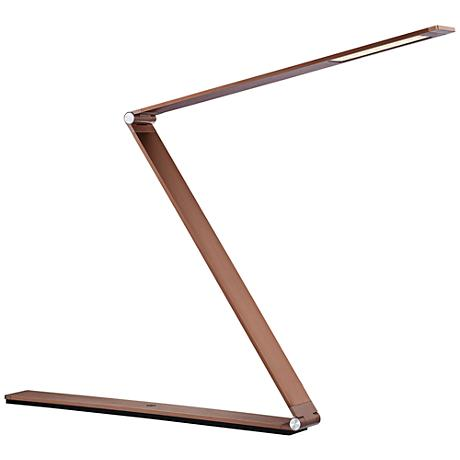 Quoizel Crossway Rose Gold Iron LED Desk Lamp