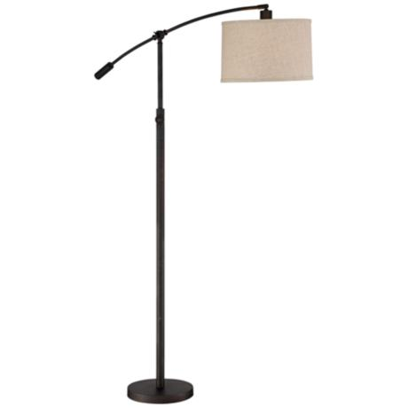 Quoizel Clift Oil Rubbed Bronze Adjustable Arc Floor Lamp