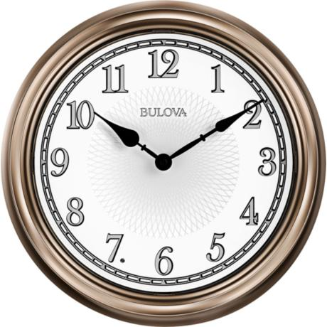 Wall Clocks Lamps Plus : Bulova Light Time Champagne 14