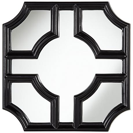 "Sector Black 30"" Square Wall Mirror"