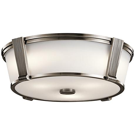 "Pending Family Assignment 17""W Classic Pewter Ceiling Light"