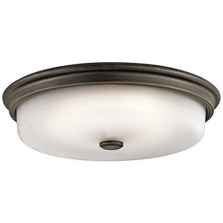 "Kichler Jefferson 16"" Wide Olde Bronze LED Ceiling Light"