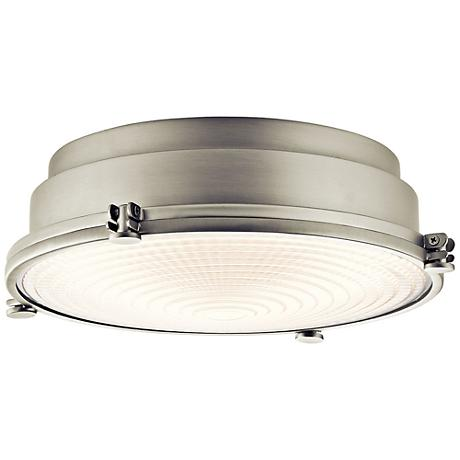 "Hatteras Bay 13 1/4"" Wide Brushed Nickel LED Ceiling Light"