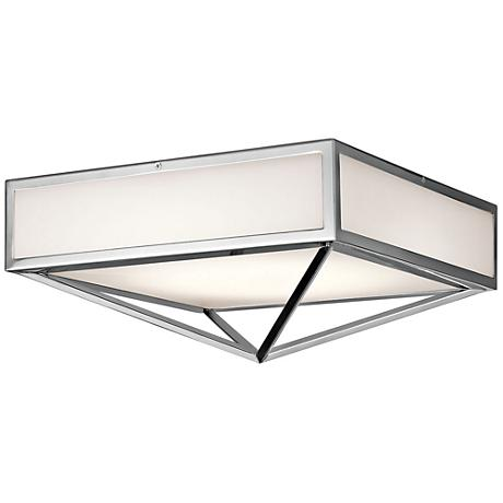 "Kichler Savoca 15"" Wide Chrome LED Ceiling Light"