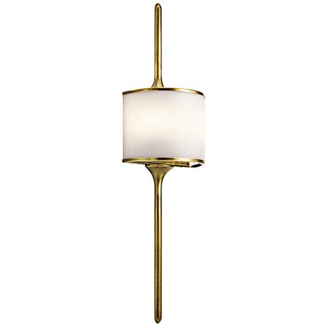 "Kichler Mona 30"" High Natural Brass 2-Light Wall Sconce"