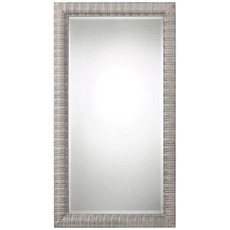 "Abenaki Ivory Gray 37 1/2"" x 67 1/2"" Full Length Mirror"