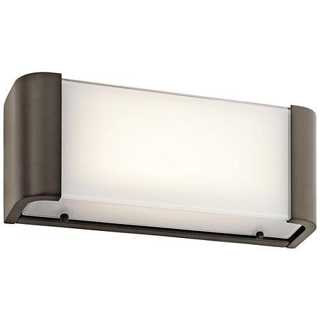"Kichler Landi 12"" Wide Olde Bronze LED Linear Bath Light"