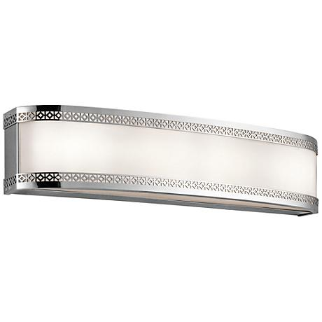 "Kichler Contessa 24""W Chrome 4-Light LED Linear Bath Light"