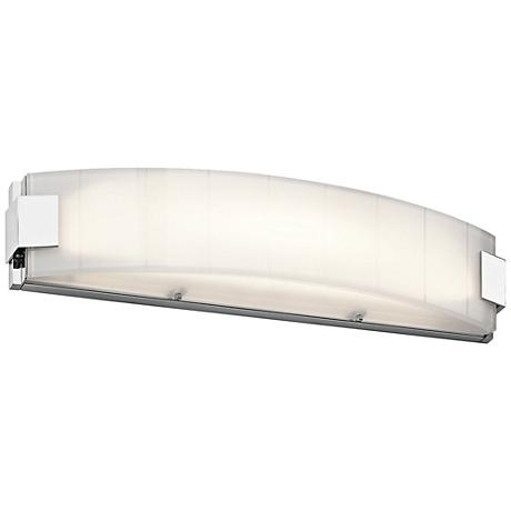 "Kichler Largo 24"" Wide Chrome 2-Light LED Linear Bath Light"