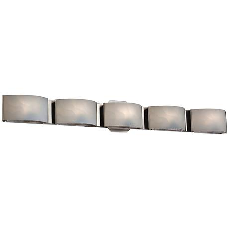 "Eurofase Dakota 33 1/2"" Wide Chrome 5-Light LED Bath Light"