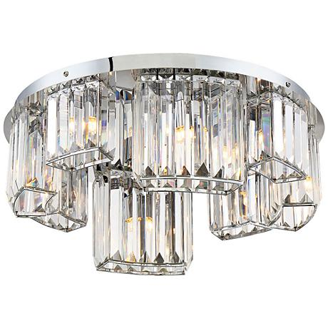 "Eurofase Lumino 18 3/4"" Wide Chrome 8-Light Ceiling Light"