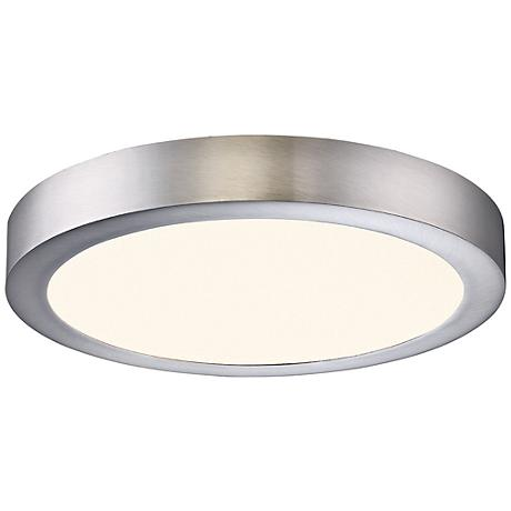 "Eurofase Brant 8 3/4"" Wide Satin Nickel LED Ceiling Light"