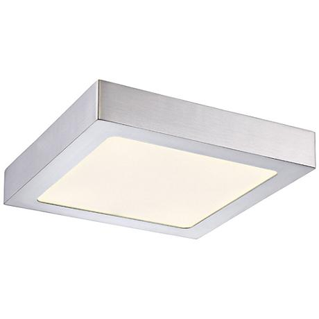 "Eurofase Avon 8 3/4"" Wide Satin Nickel LED Ceiling Light"