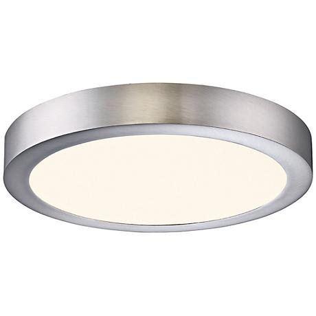 "Eurofase Brant 11 3/4"" Wide Satin Nickel LED Ceiling Light"