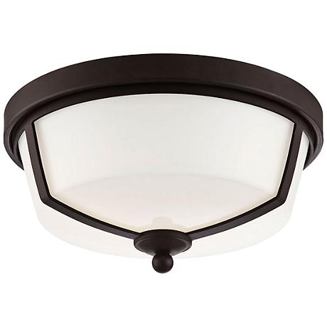 "Eurofase Kate 12"" Wide Bronze 2-Light LED Ceiling Light"