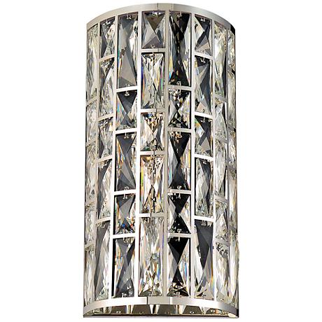 "Eurofase Lusso 15 3/4"" High Chrome 2-Light Wall Sconce"