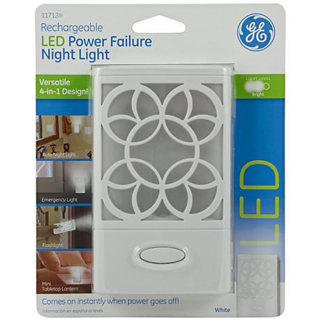 GE White LED Power Failure Night Light