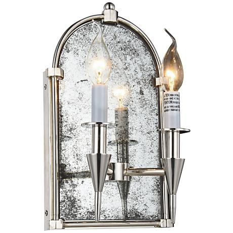 "Bavaria 14"" High Polished Nickel 2-Light Wall Sconce"