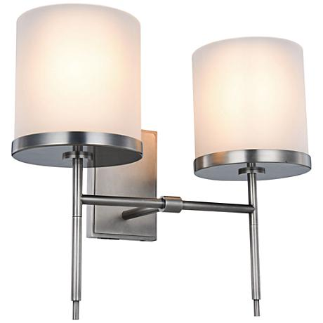 "Bradford 17"" High Vintage Nickel 2-Light Wall Sconce"