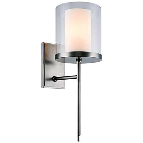 "Bradford 17"" High Vintage Nickel 1-Light Wall Sconce"