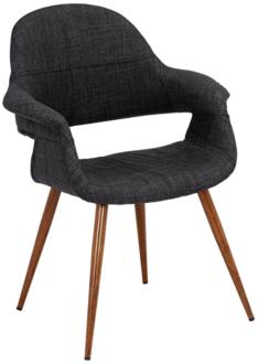 Phoebe Modern Charcoal Fabric Accent Armchair (9F383) 9F383