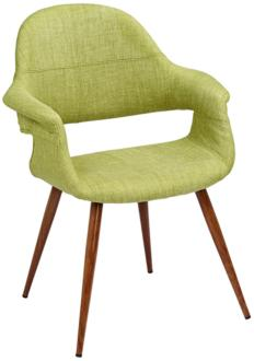 Phoebe Modern Green Fabric Accent Armchair (9F385) 9F385