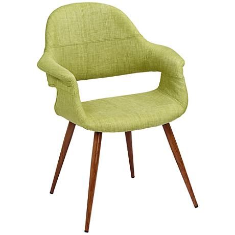Phoebe Modern Green Fabric Accent Armchair