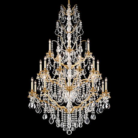 "Schonbek Bordeaux 40""W Heirloom Gold 25-Light Chandelier"