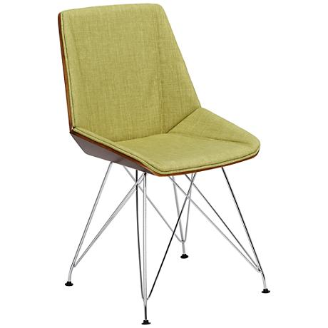 Pandora Mid-Century Modern Green Accent Chair