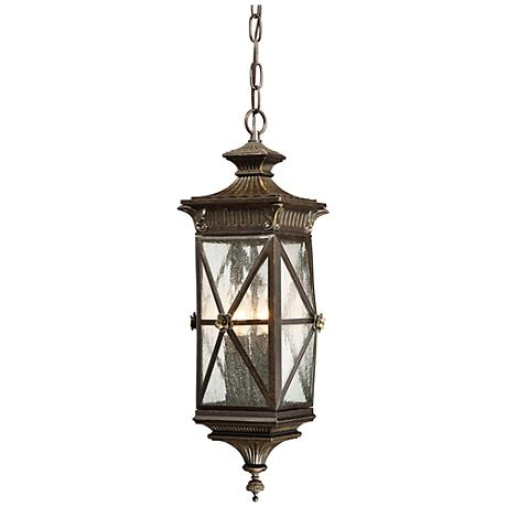 "Rue Vielle 8 3/4"" Wide Forged Bronze Hanging Outdoor Light"