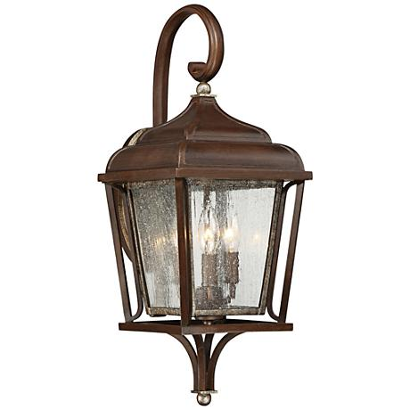 "Astrapia II 23 1/4"" High Rubbed Sienna Outdoor Wall Light"
