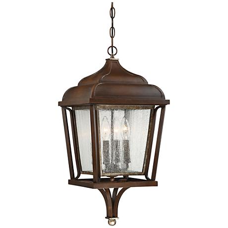 "Astrapia II 24""W Rubbed Sienna Hanging Outdoor Light"