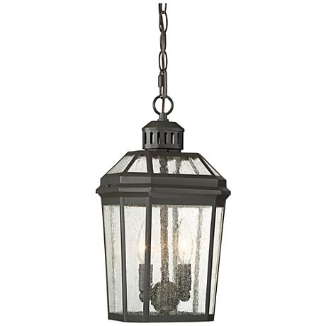 "Hawks Point 6 1/2""W Oiled Bronze Hanging Outdoor Light"