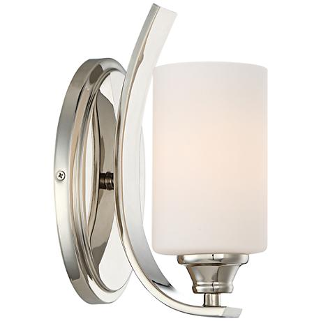 "Tilbury 10 1/4"" High Polished Nickel Wall Sconce"