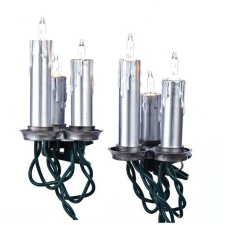 String Lights Lamps Plus : 15-Light Triple Antique Silver Candle String Light Set - #9G862 www.lampsplus.com