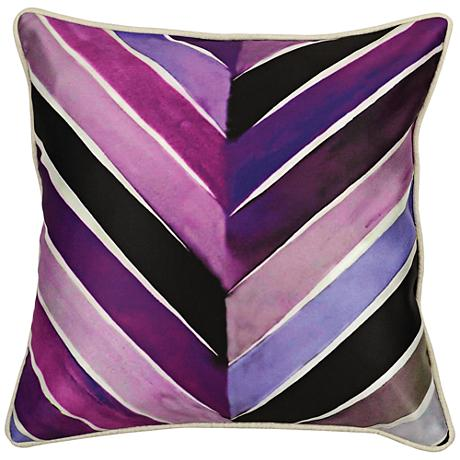 "Ami Plum Purple Graphic Printed 18"" Square Throw Pillow"