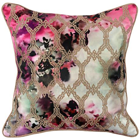 "Gina Graphic Printed 18"" Square Throw Pillow"