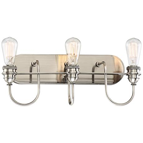 "Uptown Edison II 20 1/2"" Wide Plated Pewter Bath Light"