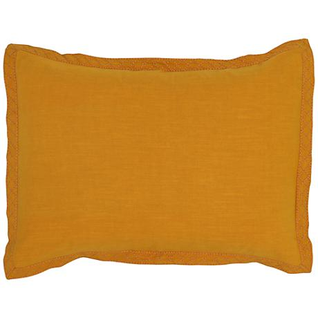 Resort Mango Yellow Printed Standard Pillow Sham